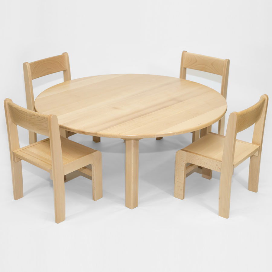 Circular Table Solid Beech (ø1000mm)