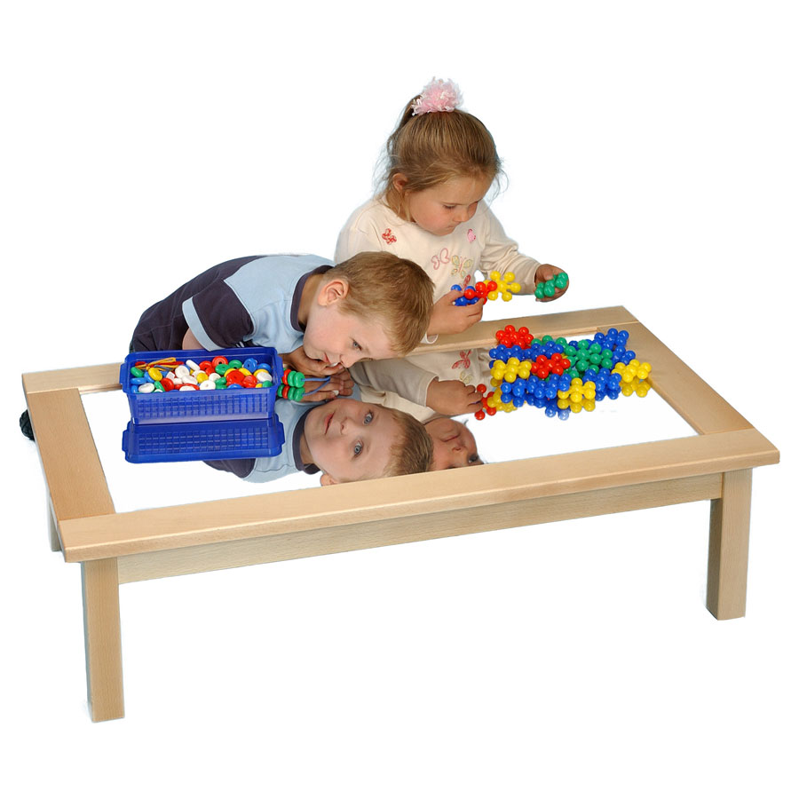 Children S Mirror Table Toughened Glass