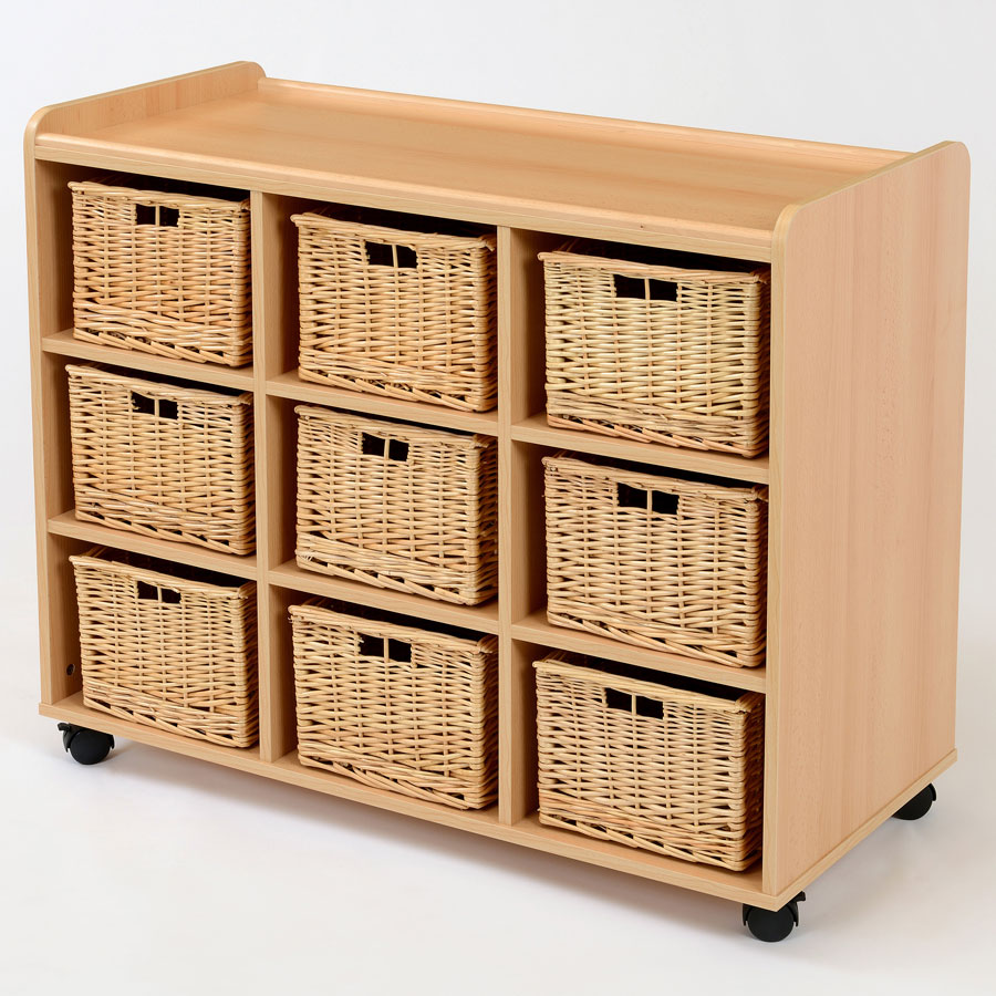 9 Deep Wicker Basket Flexi Storage Unit