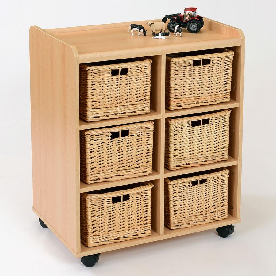 6 Deep Wicker Basket Flexi Storage Unit