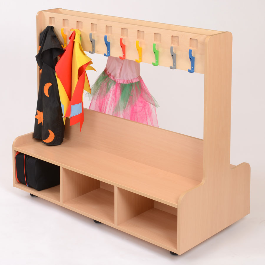 Children's Dressing Up Unit With Fixed Coat Rail