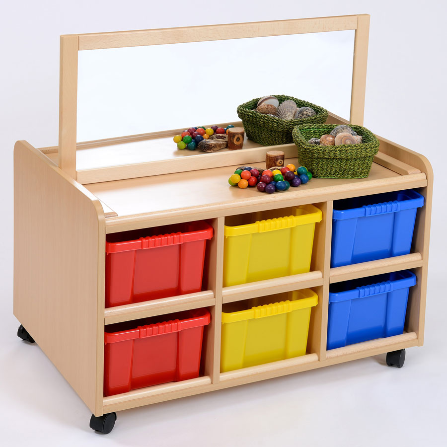 Double Sided Nursery Resource Unit + Mirror & Trays