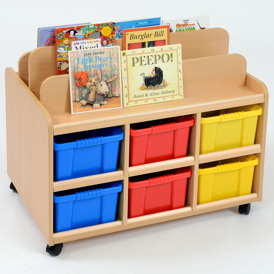 Double Sided Nursery Book Display + Trays