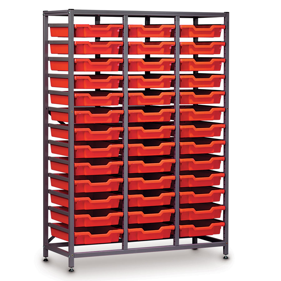 Mid-Height 3 Bay Science Storage - 39 Shallow Trays