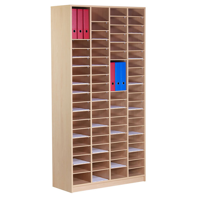 80 Compartment Wooden Pigeon Hole Store (2m)