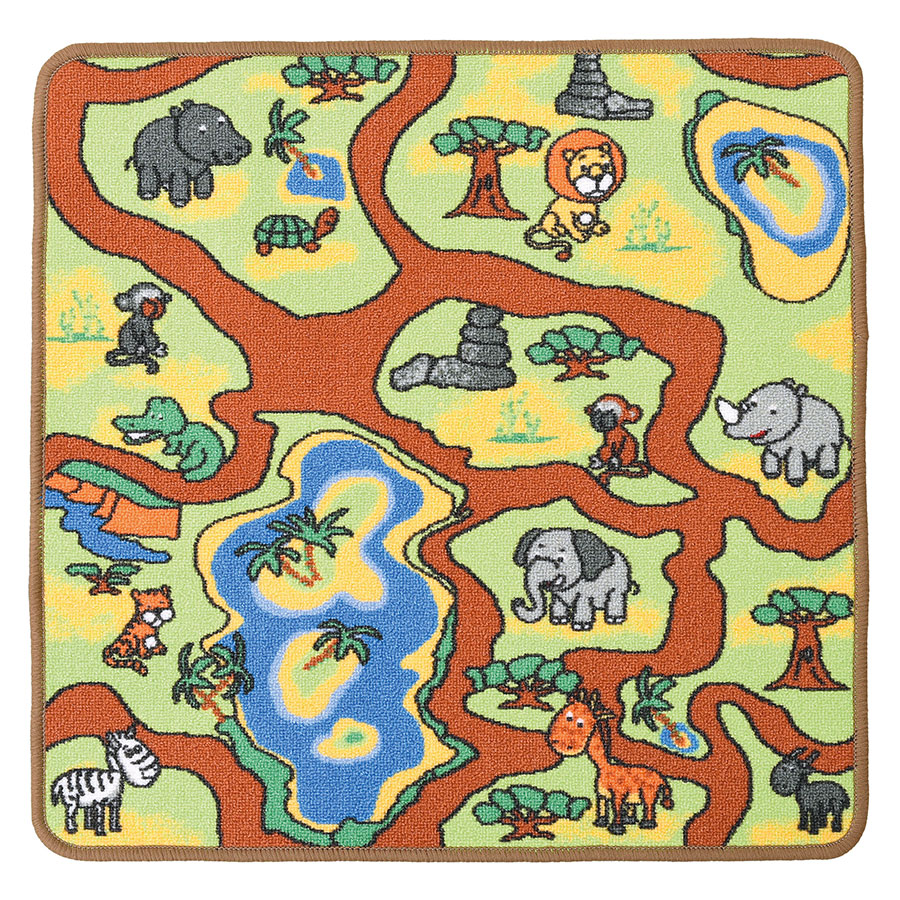 Square Play Rug – Jungle
