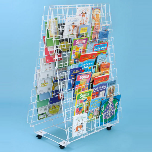 Double Sided Floor Book Rack