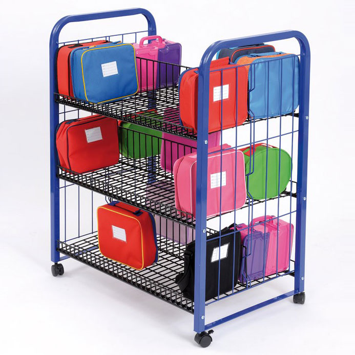 School Double Lunchbox Trolley