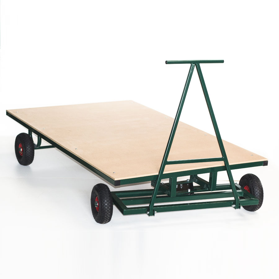 Heavy-Duty Mat Trolley + Swivel Steer Handle