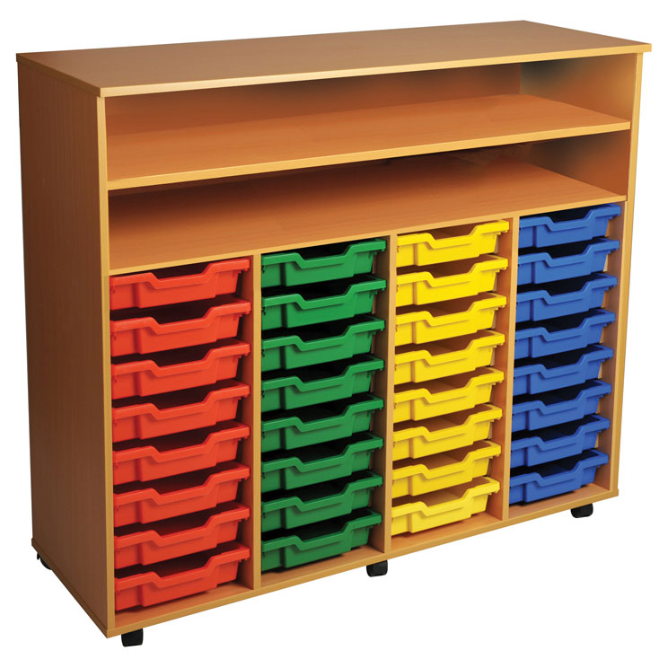 Four Bay Art Tray Storage (32 Trays)