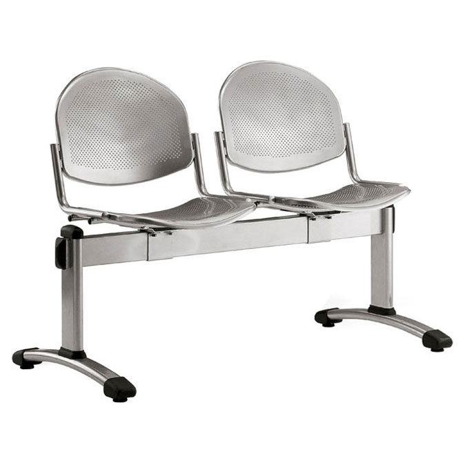 Dalby Metal Beam Seating - 2 Seater Flat Leg