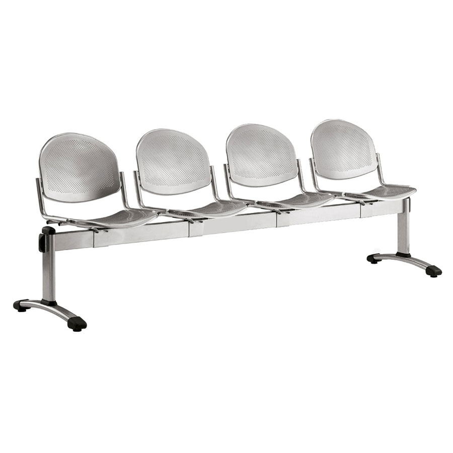 Dalby Metal Beam Seating - 4 Seater Flat Leg