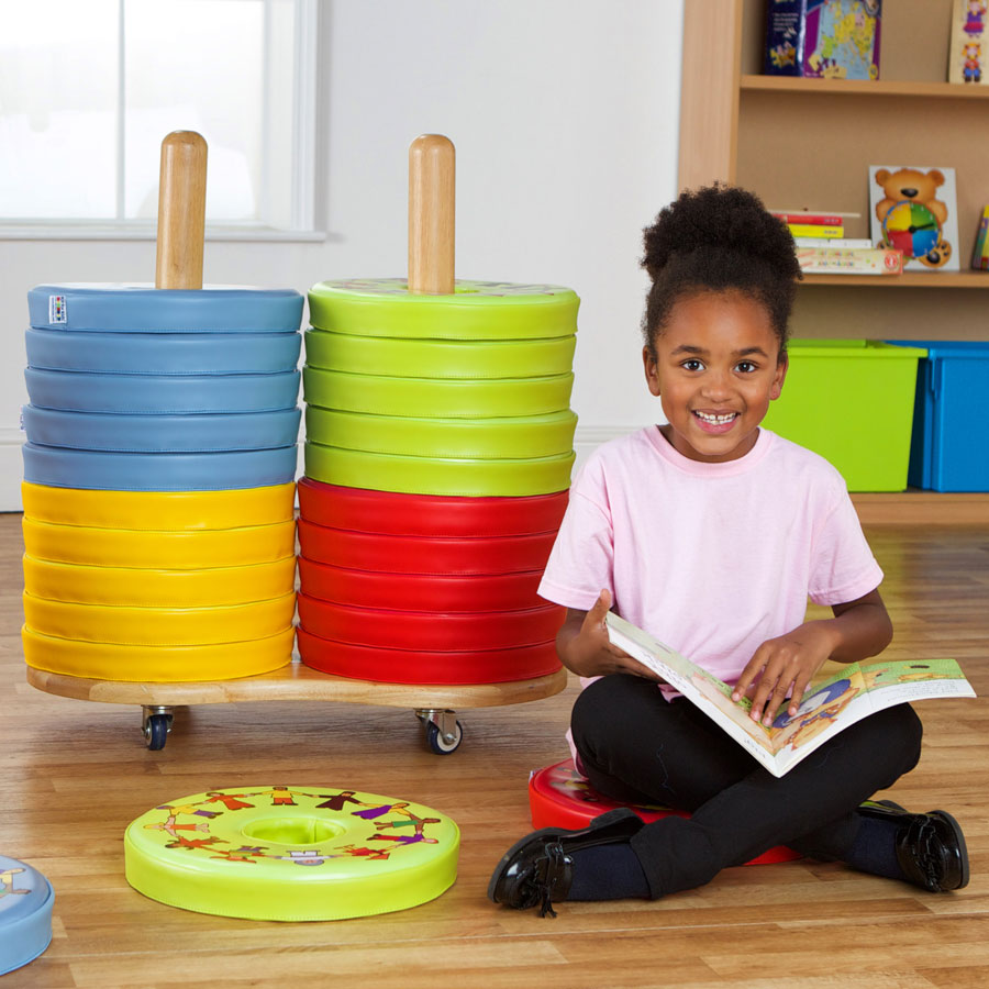Children of the World™ Multi-Cultural Donut™ 24 Cushions & Trolley