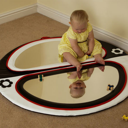 Baby Double Mirror Floor Pad - Black & White