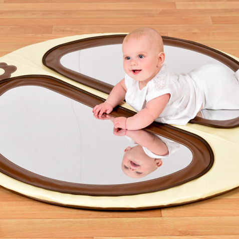 Baby Double Mirror Floor Pad Natural