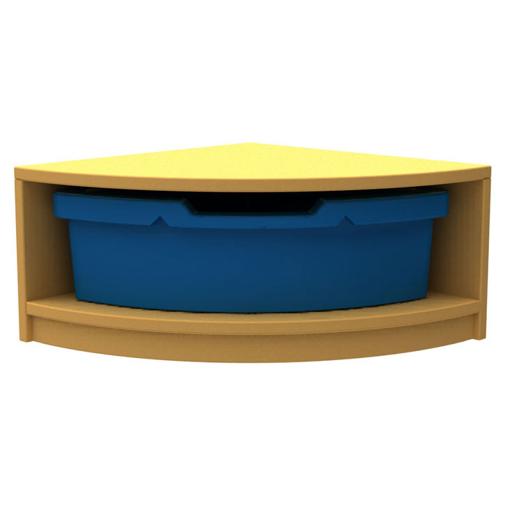 ''Curve'' Quarter Corner Storage (1 Tray High)