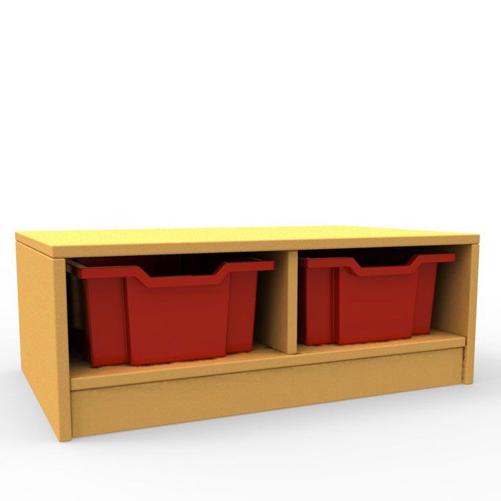 ''Curve'' Double Column Storage (1 Tray High)