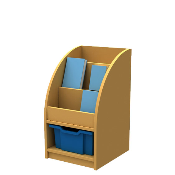 ''Curve'' Book/Tray Storage (1 Tray High)