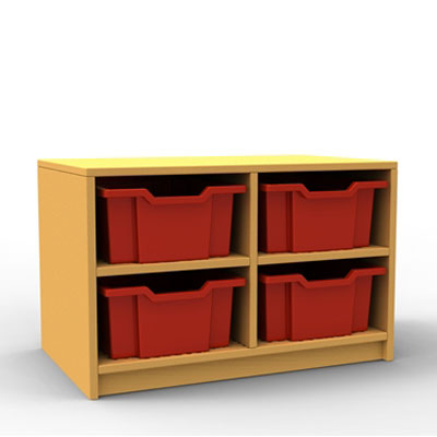 ''Curve'' Double Column Storage (2 Trays High)