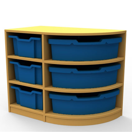 ''Curve'' Right-Hand Corner Storage (3 Trays High)