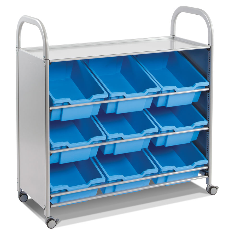 Callero Tilted Treble Trolley + 9 Deep Trays