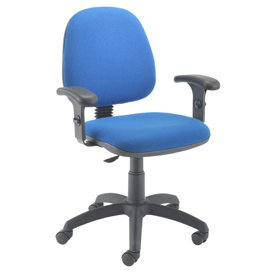 Zoom Mid-Back Operator Chair + Buzz Adjustable Arms