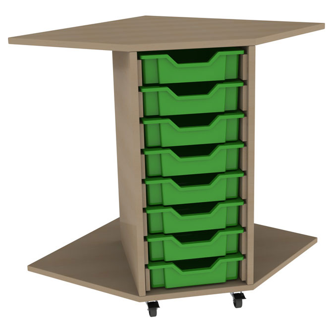 PSU8 8 Tray School Corner Storage