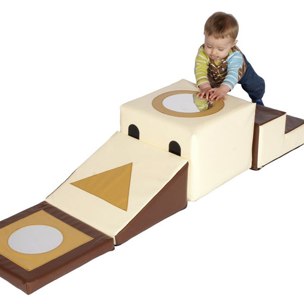 Children's Soft-Block Playring Mirror Trail - Natural