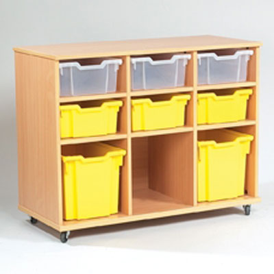 Yorkshire School Storage - 6 Deep, 3 Jumbo Tray