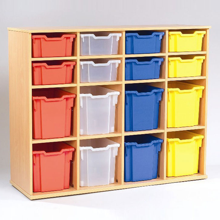Yorkshire School Storage -  8 Deep & 8 Jumbo Tray