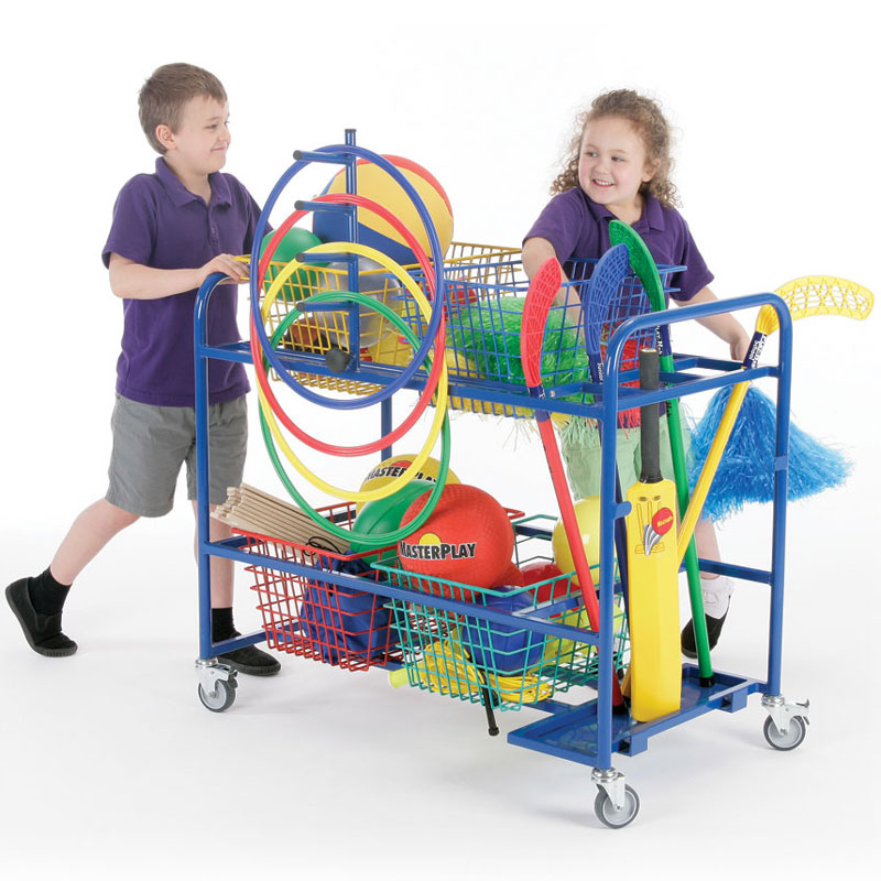 School Sports Mobile Basket Trolley