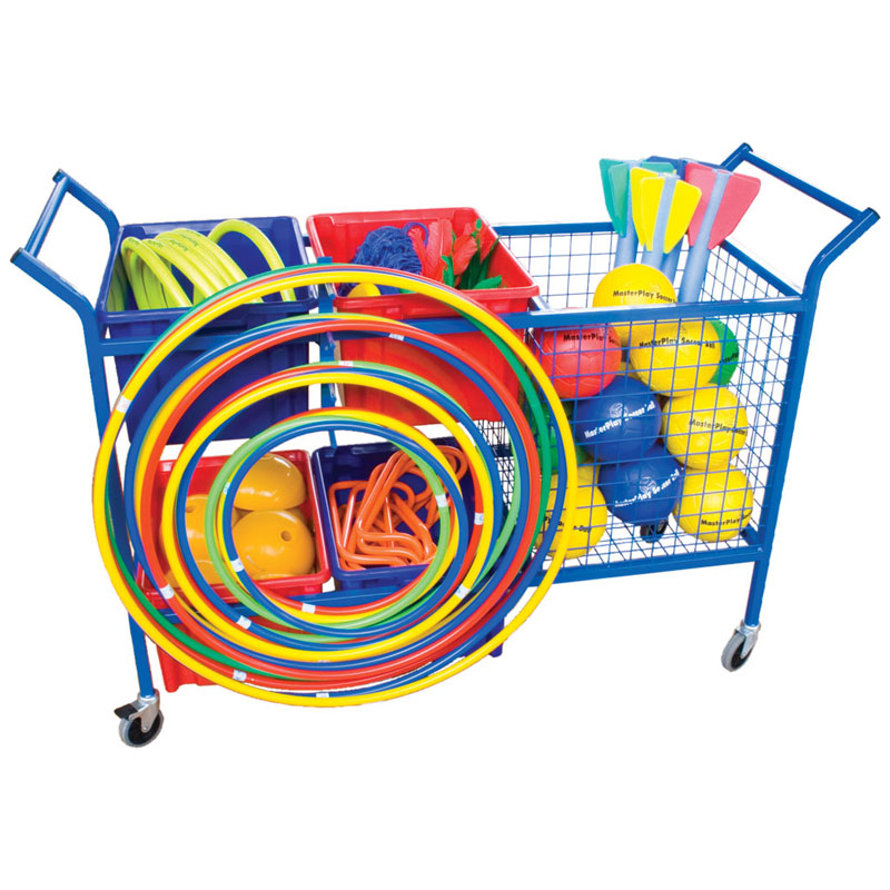 School Sports Large Equipment Storage Trolley + Hoop Rack