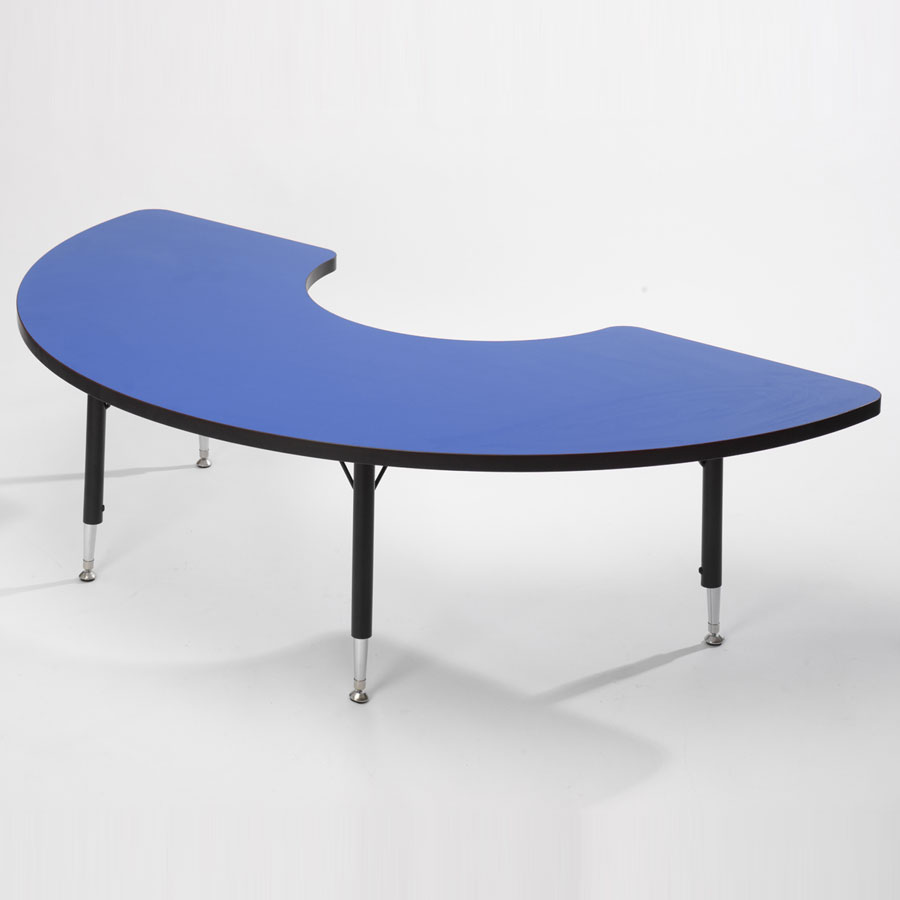 Tuf-Top™ Height Adjustable Arc Tables - Blue