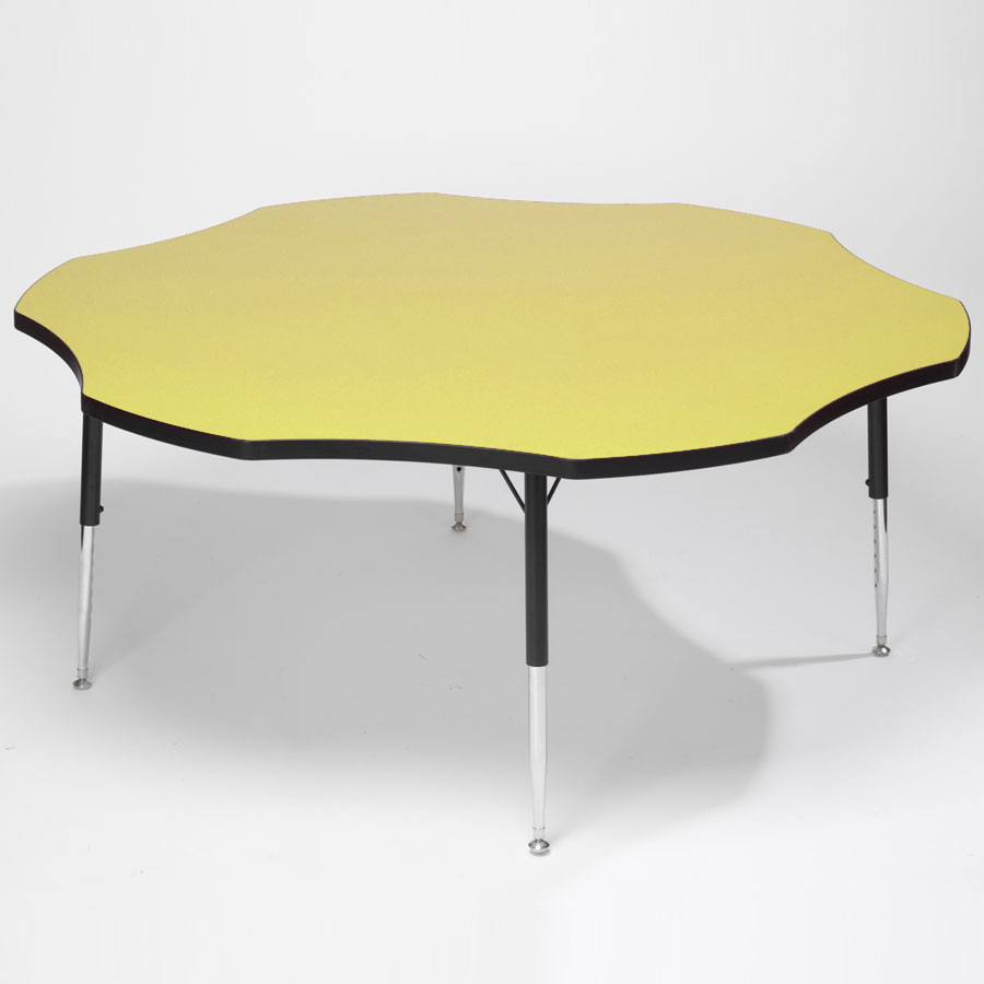 Tuf-Top™ Height Adjustable Flower Table - Yellow