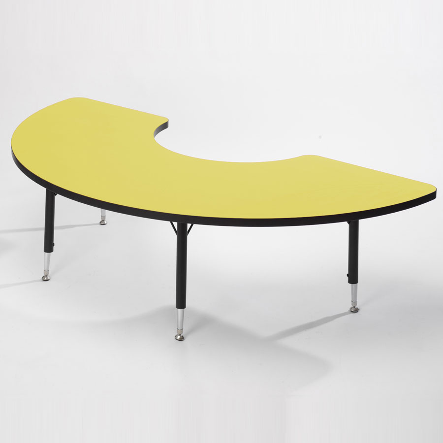 Tuf-Top™ Height Adjustable Arc Tables - Yellow