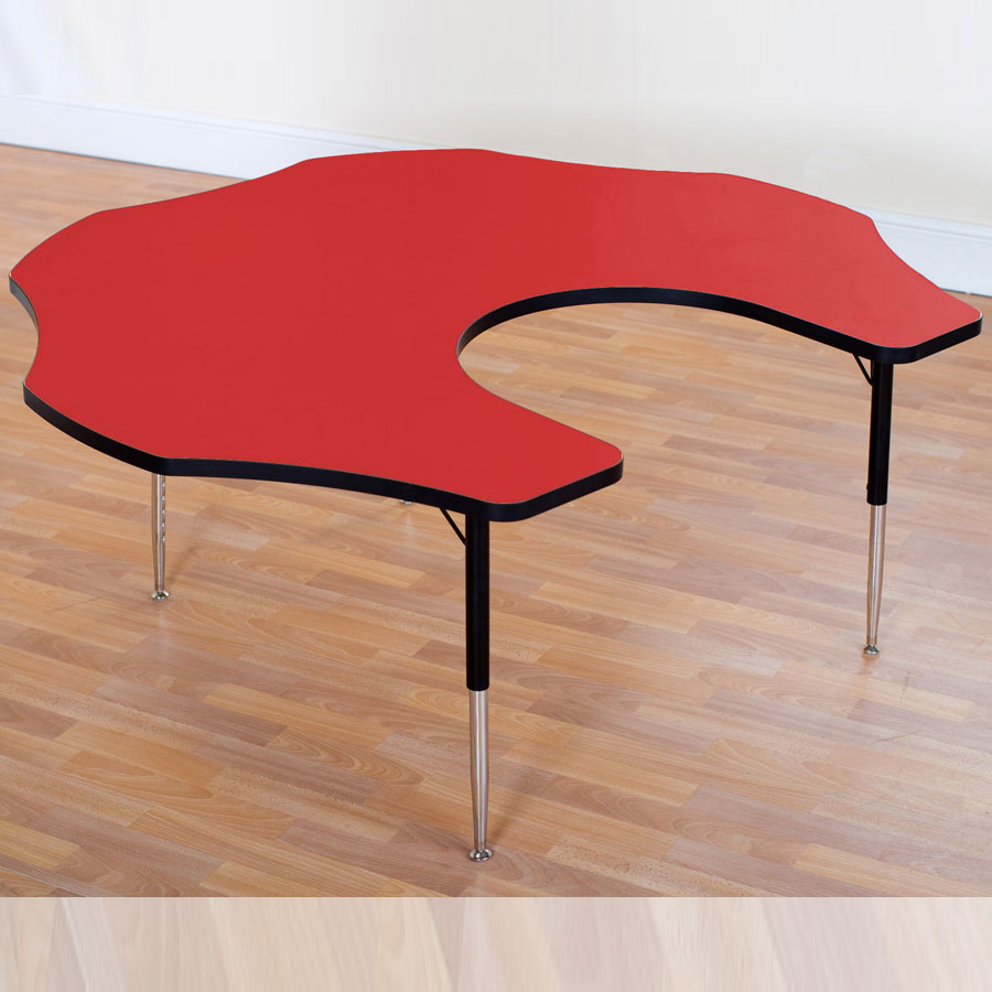 Tuf-Top™ Height Adjustable Teacher Flower Table - Red