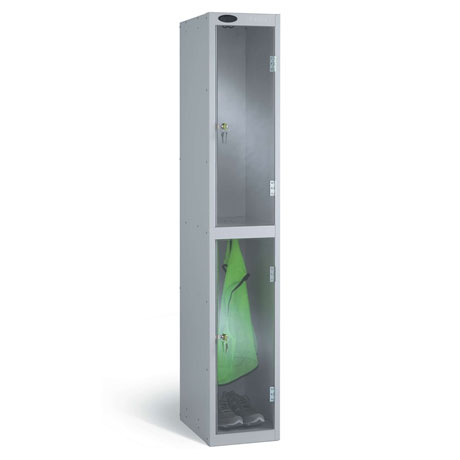 Probe Clear Two Door Locker
