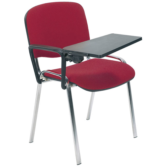 ISO T Chrome Chair With Writing Tablet