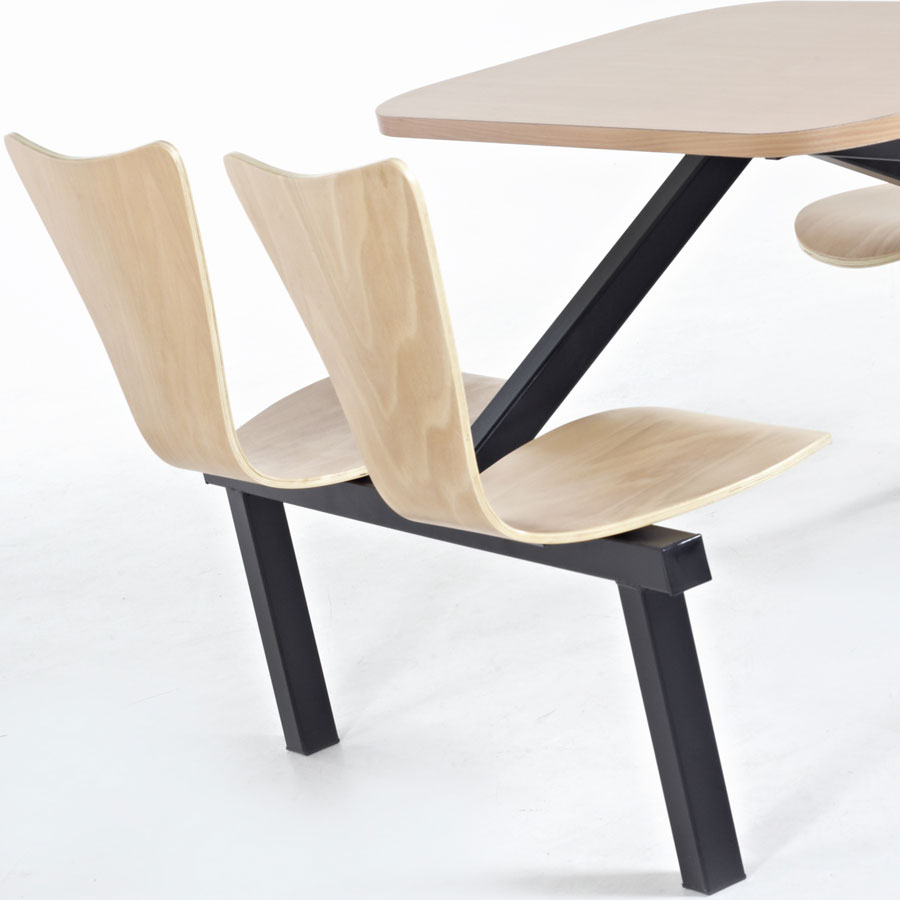 Torino Wooden School Canteen Fast-Food Furniture