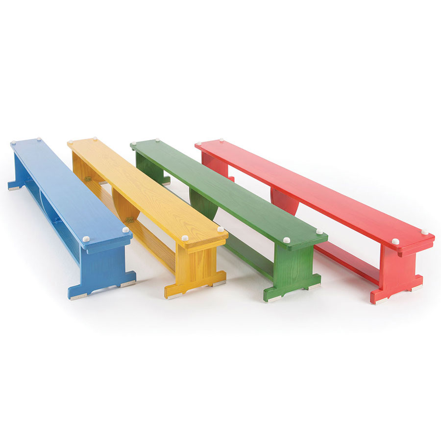 Activbench Coloured Wooden Gym Bench