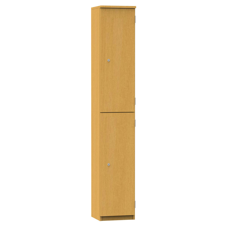 Wooden Locker - 2 Compartment