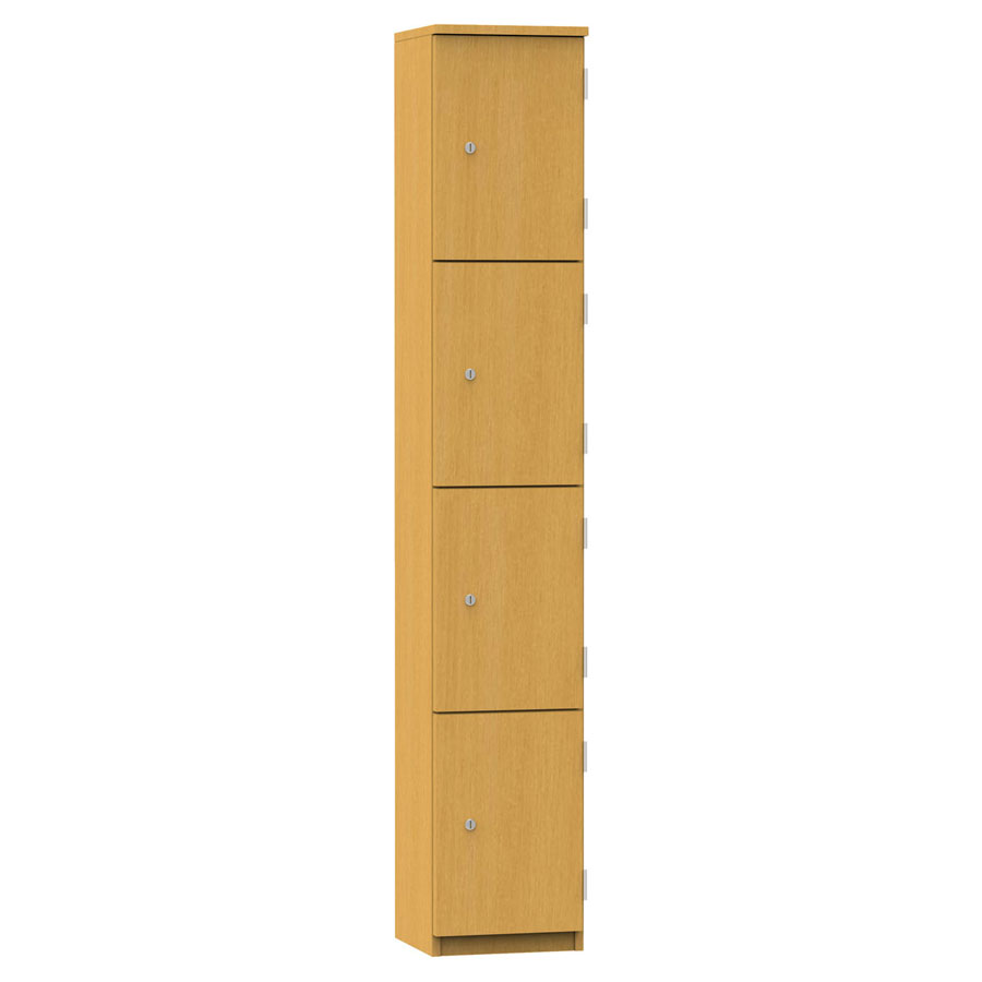 Wooden Locker - 4 Compartment