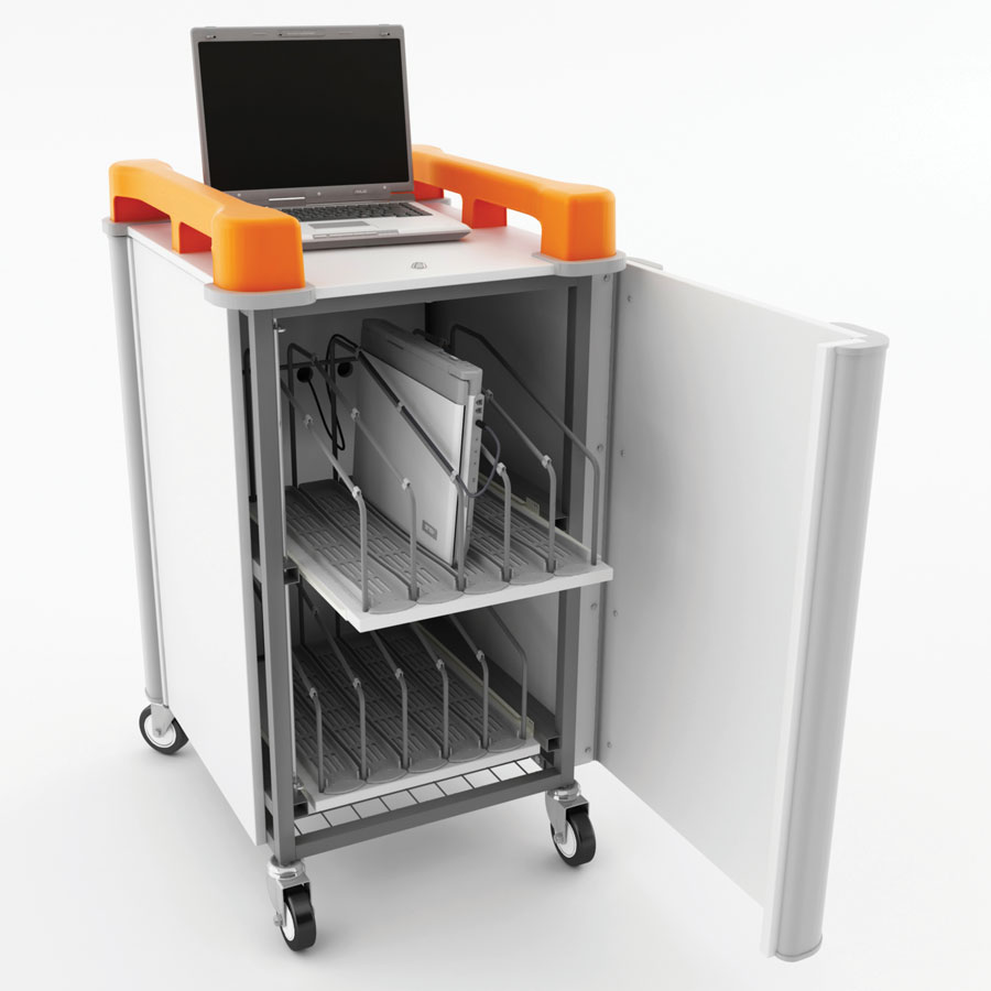 LapCabby 10 Port Vertical Laptop Trolley
