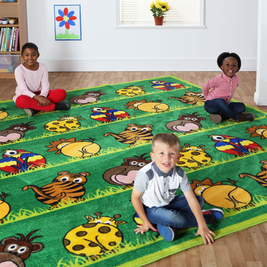 Town & Country™ Zoo Animals Placement Carpet
