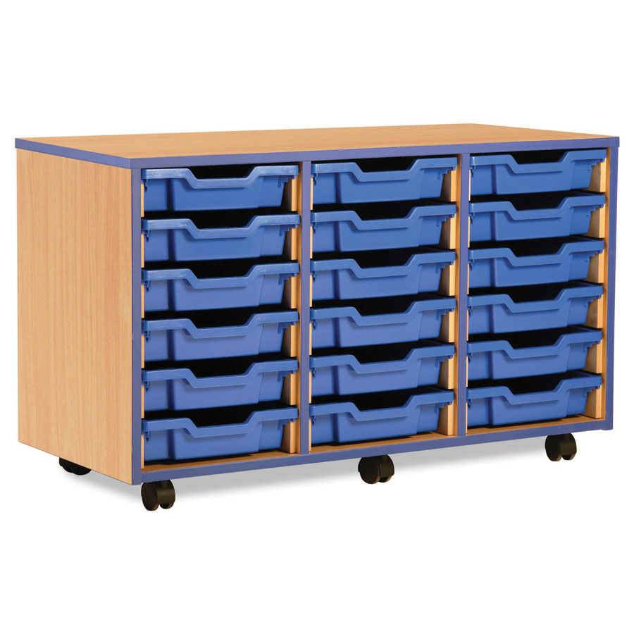 18 Shallow Blue Tray Store with Blue Edging