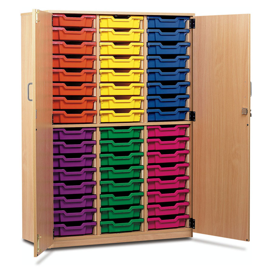48 Shallow Tray Cupboard with Full Locking Doors