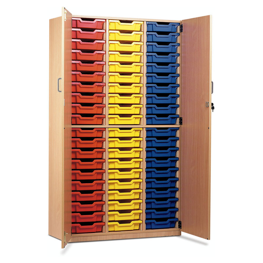 60 Shallow Tray Cupboard with Full Locking Doors