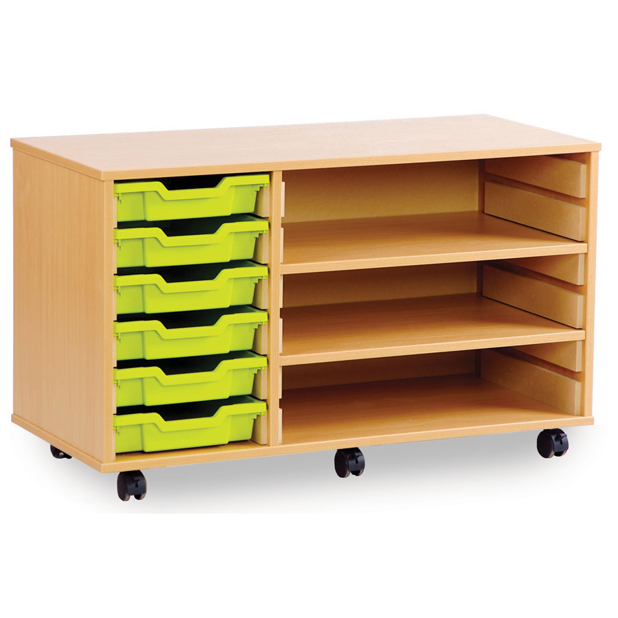 6/2S 6 Shallow Tray Store with Shelves