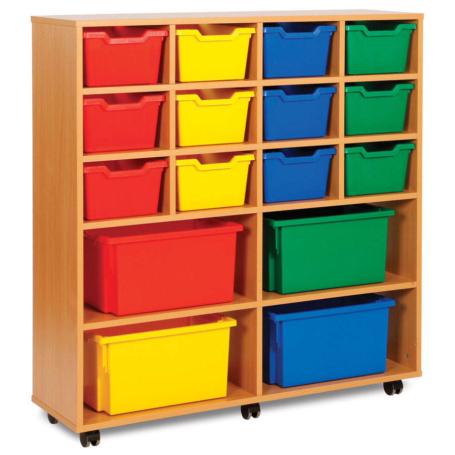MEQ8013 12 Cubby Trays with 4 Extra Deep Trays