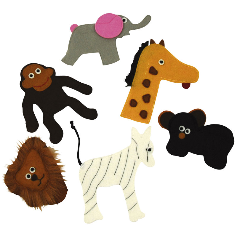 Zoo Animals Finger Puppets (6 Pieces)